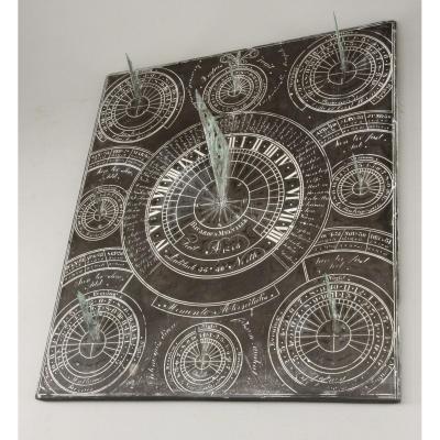 Sundial Of Ricardus Melville (ricard Melvin) From Glasgow, Scotland