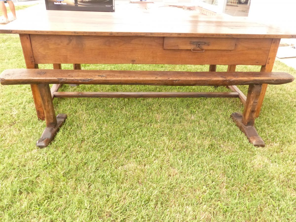 Farm Table / Cherry And Oak Community 200 Cms