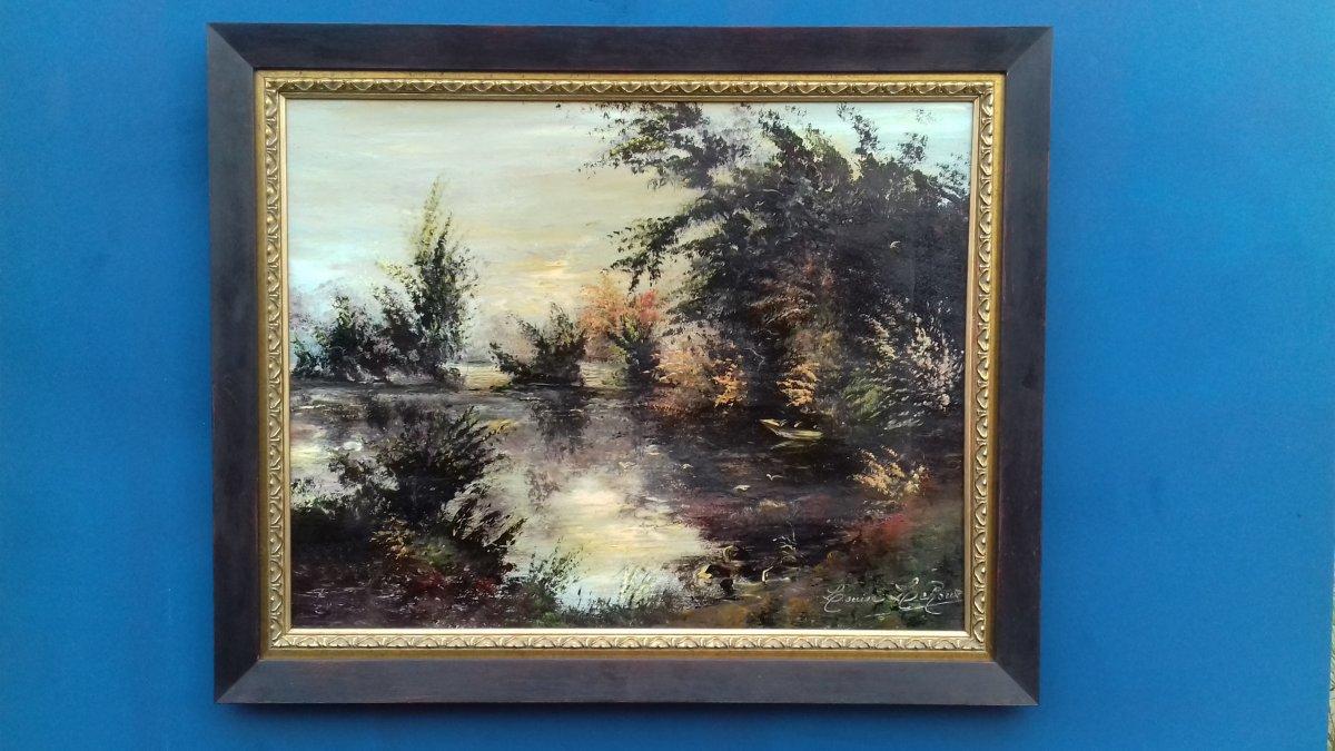 Grand Tableau Impressionisme Premiere Moitie XX Eme Siecle Huile Sur Panneau ,signe .impressioniste