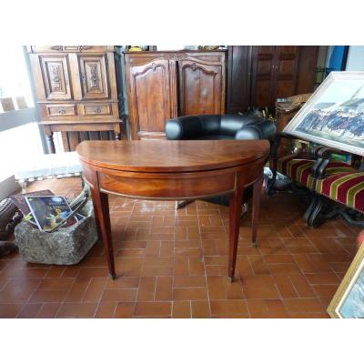 table demi lune console Acajou table a jeux style  louis xvi directoire