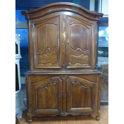 Buffet Louis XV Era Four Doors Gendarme Hat.