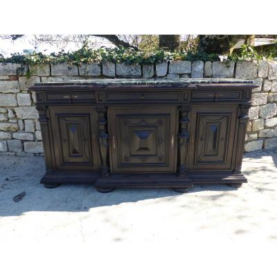 Sideboard Three Doors Napoleon III Wood Blackened