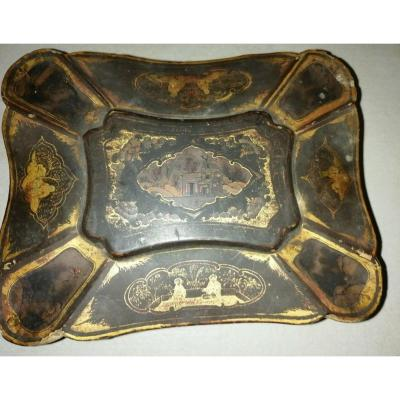 Wooden Box Period XIX Century Lacquer Painted Table China Circa XIX Eme Napoleon III Chinese .pieds Griffes