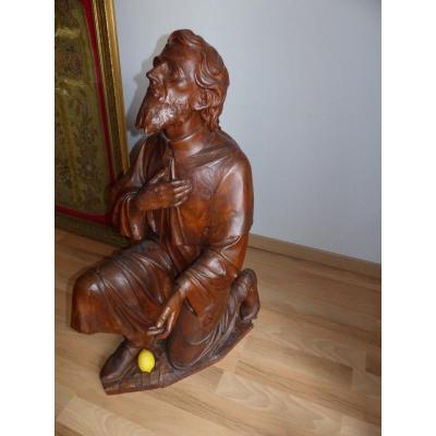 rare importante taille et qualités  Statue religieuse époque XIX éme  Saint Jacques De Compostelle Statuaire Saint Religieux Religion  christ
