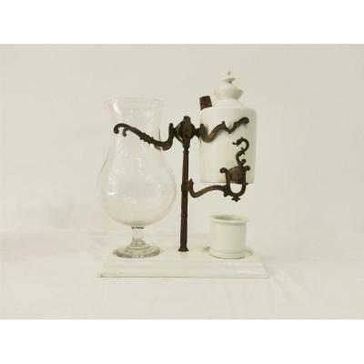 Pair Of Louis Gabet System Rocking Coffee Maker White Porcelain Bronze Louis Philippe XIXth