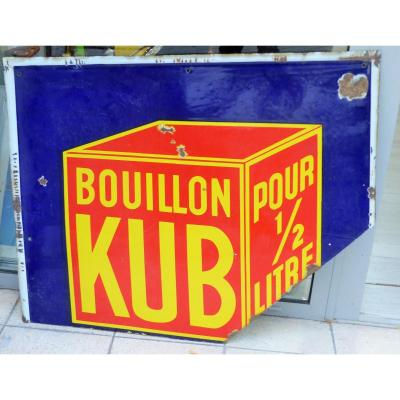Old Enamel Plate Bouillon Old Bouillon Cube Year 1900 Pub Advertising Kitchen Deco