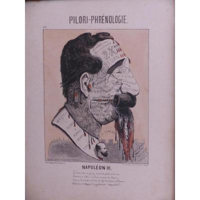 Pillory Phrenology N ° 1 Print Napoleon 3 Rare Cabinet Curiosity Napoleon 3 Second Empire Napoleon III XIX Th Caricature Engraving