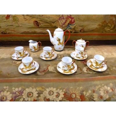 Service Chinoisant Japonisant Feng Shui Porcelaine Fine Et Emaux the cafe
