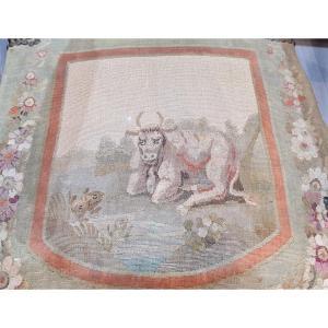 Louis XVI XVIII e Fables De La Fontaine Tapisserie Des Gobelins dessins de Huet Canape Fauteuils Salon
