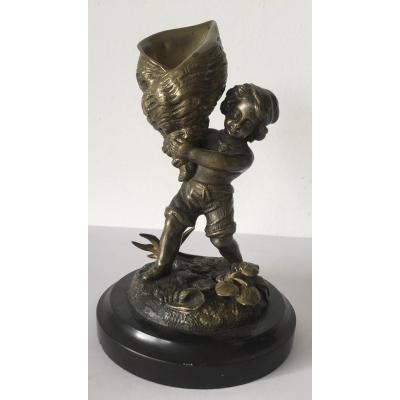 The Child And The Shell, Small Bronze
