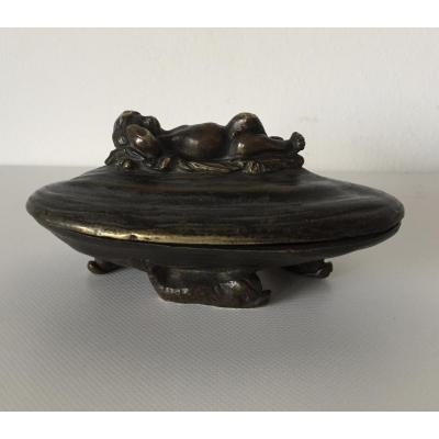 Bronze Subject, Putto Asleep On An Oyster