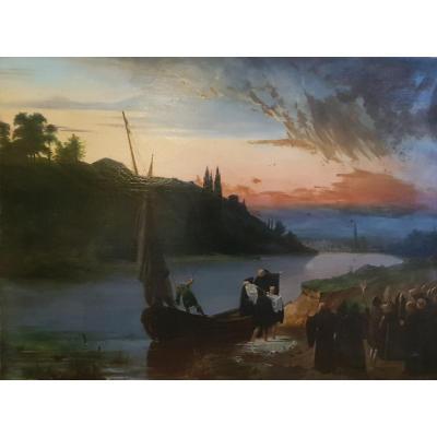 Grand Tableau d'Histoire 1824 Jean Truchot Le Convoi d'Isabeau De Bavière