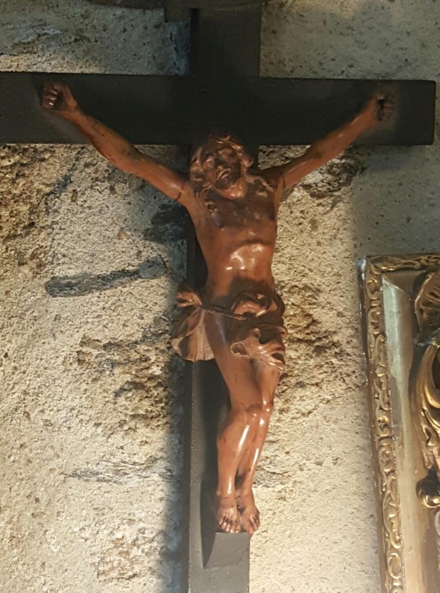 Christ En Buis 18ème Sur Sa Croix