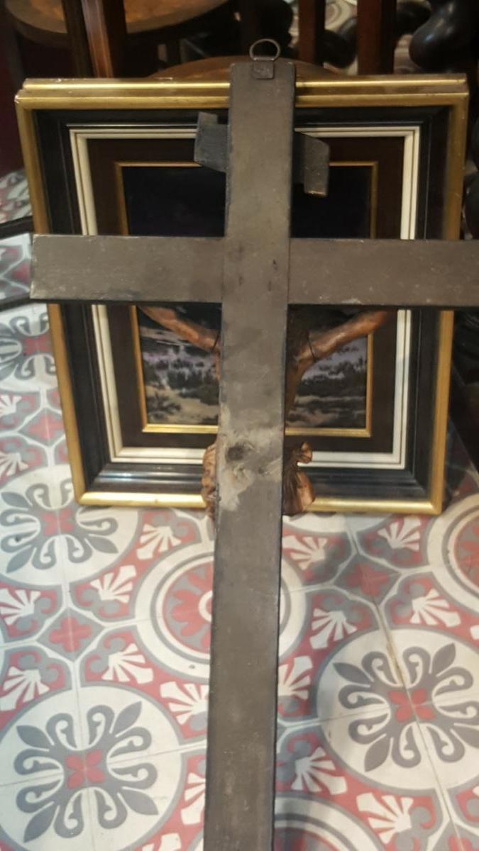 Christ En Buis 18ème Sur Sa Croix -photo-4