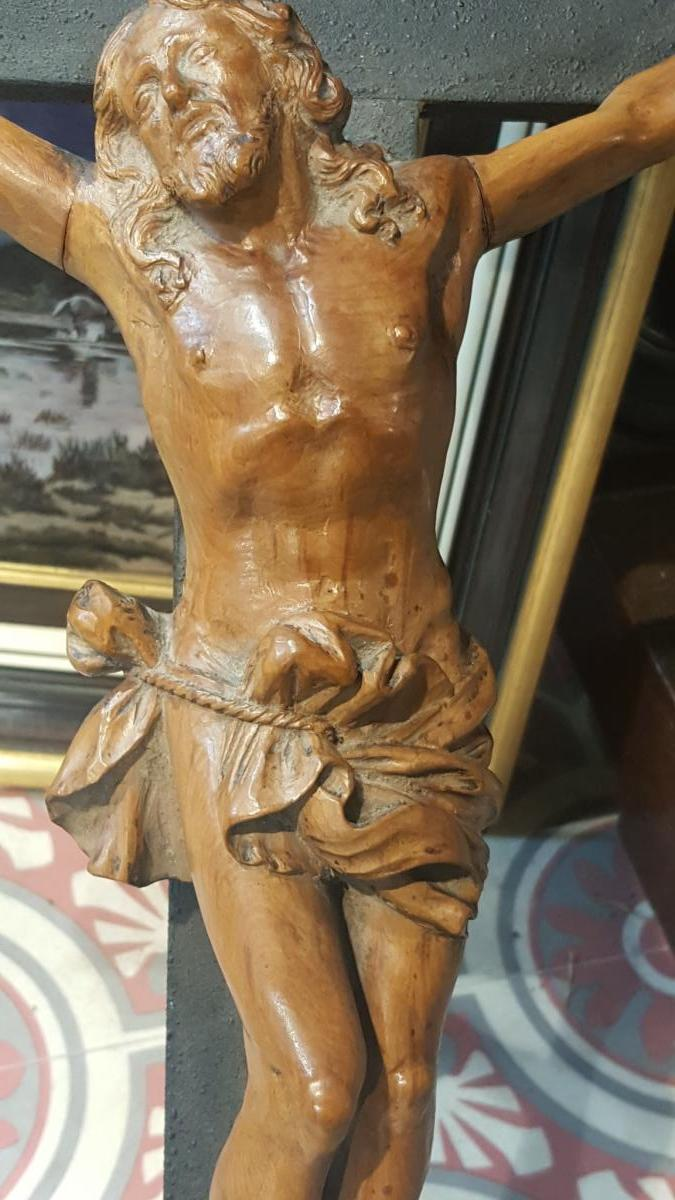 Christ En Buis 18ème Sur Sa Croix -photo-2