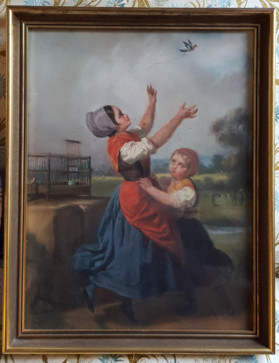 Pastel 19ème Attr. Dillens Hendrick Joseph (1812-1872) école Belge Vers 1850.