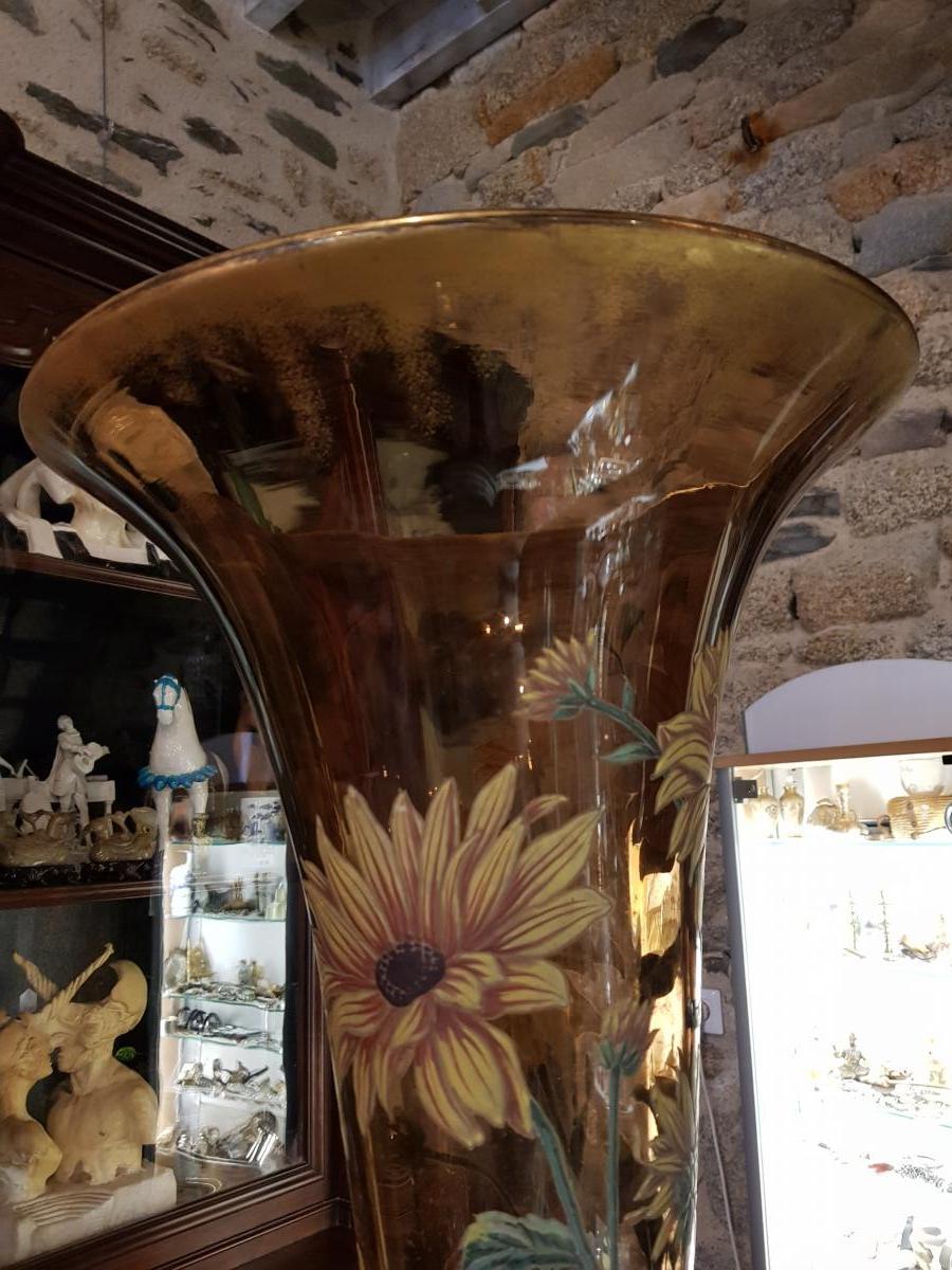 Monumental Vase De 118 Cm Legras Ou Gallé Vers 1880 -photo-4