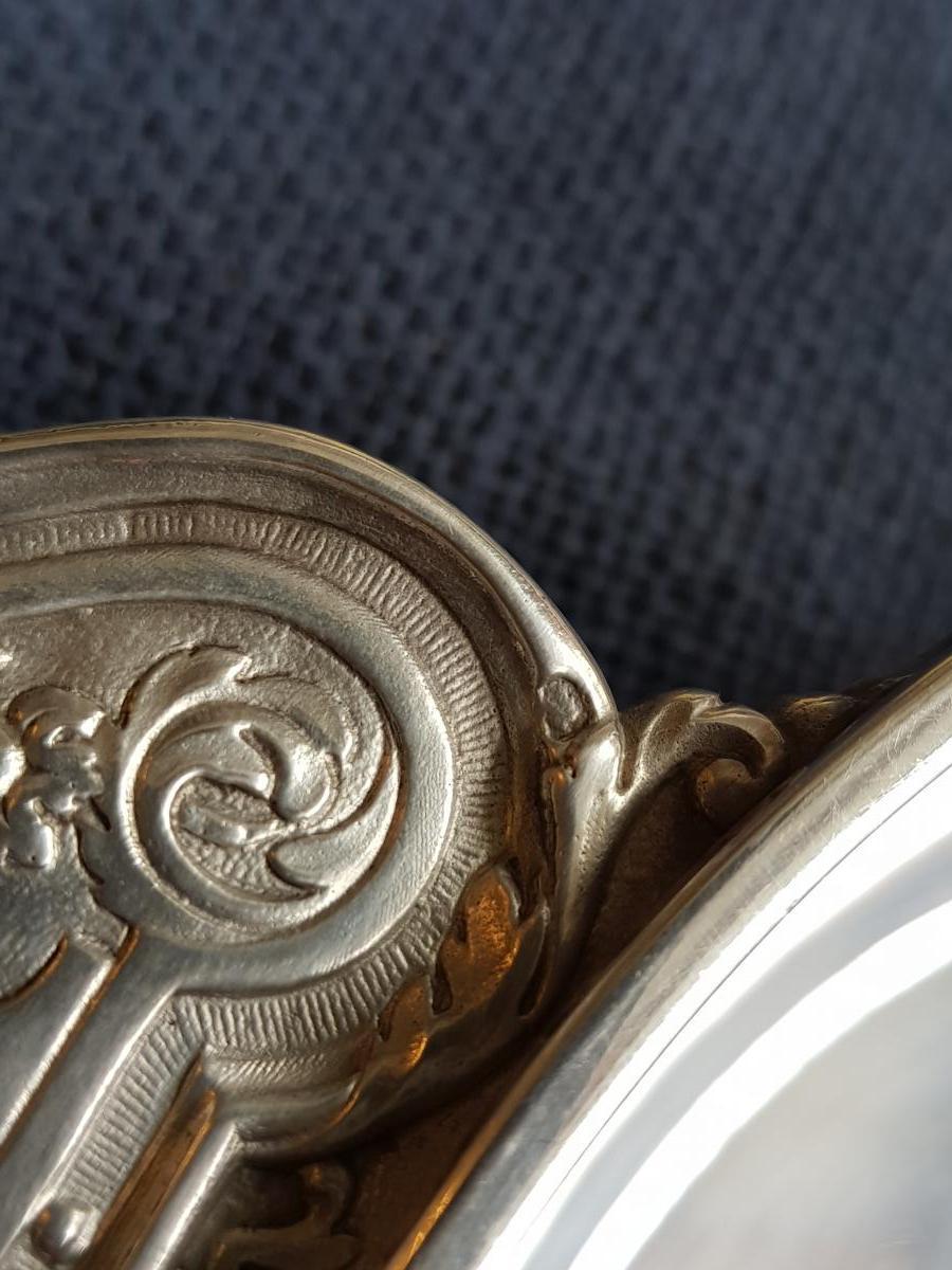 Ecuelle Couverte Style Louis XIV Décors Profils Henin & Cie-photo-4