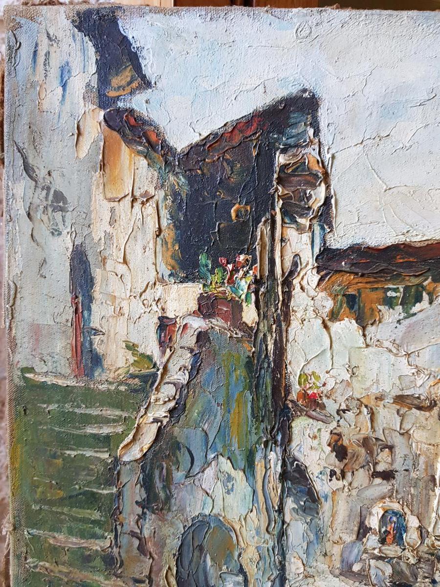 Tableau De René Le Forestier (1903-1972) La Fontaine De l'Escarène Près De Nice-photo-1