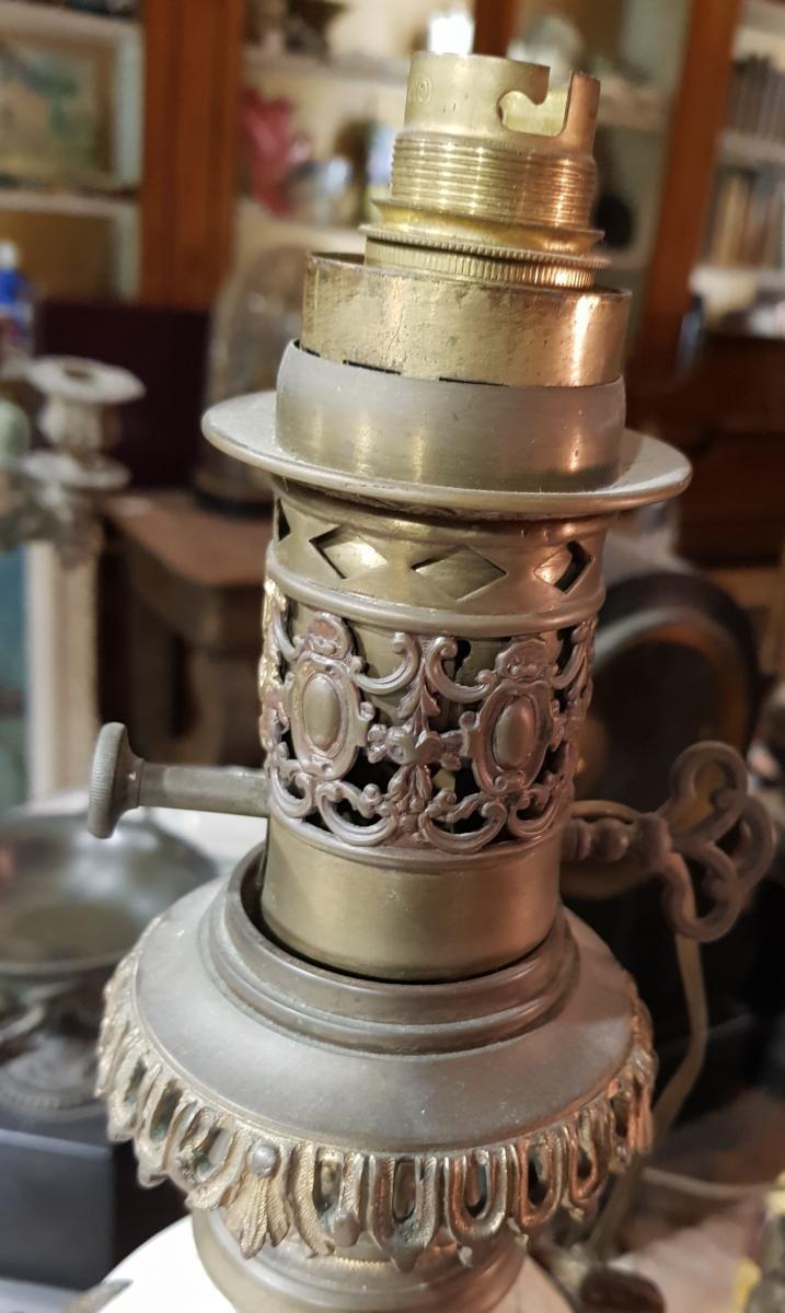 Paire De Lampes Chinoisante Ou Japonisante Decor Satanique Napoléon III Porcelaine De Chine-photo-4