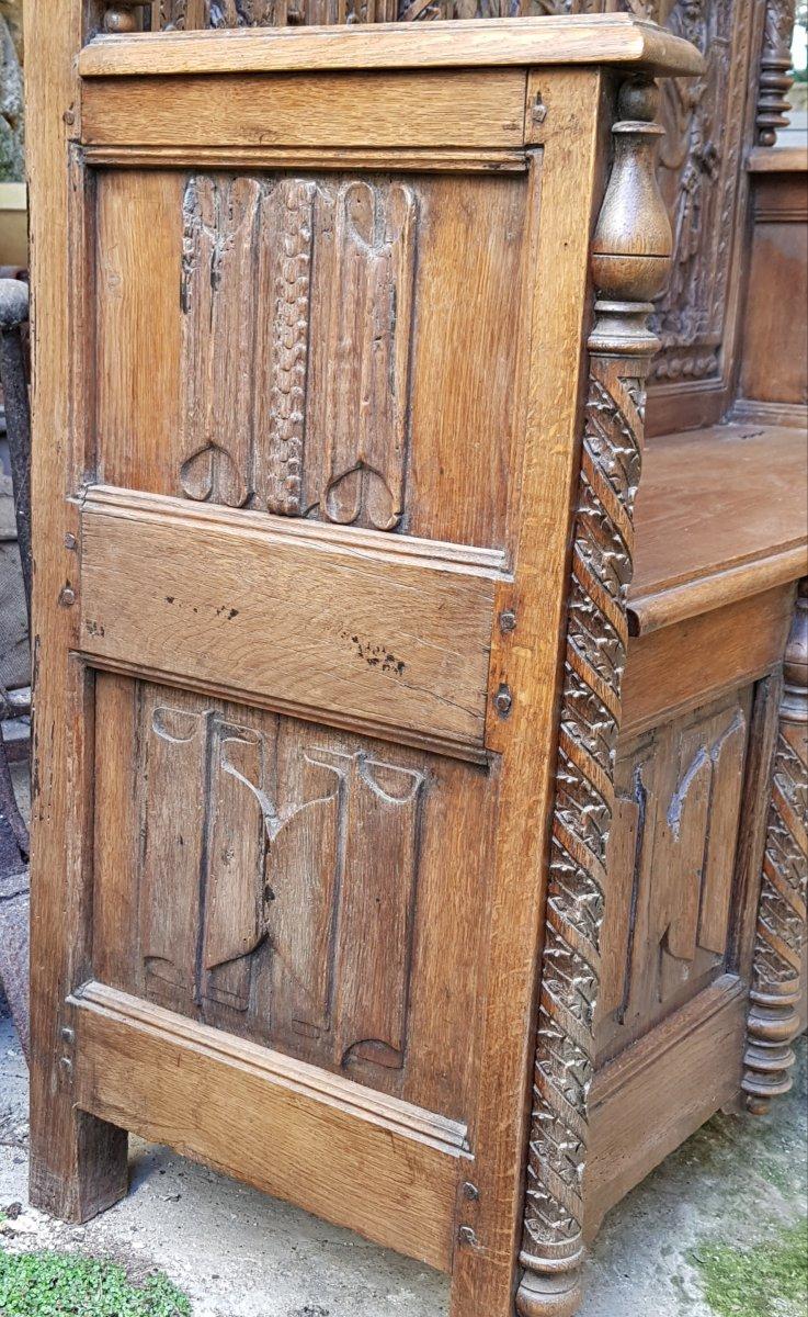 Banc Coffre St. Haute époque Panneaux Saint Paul,pierre Et Catherine d'Alexandrie. -photo-3