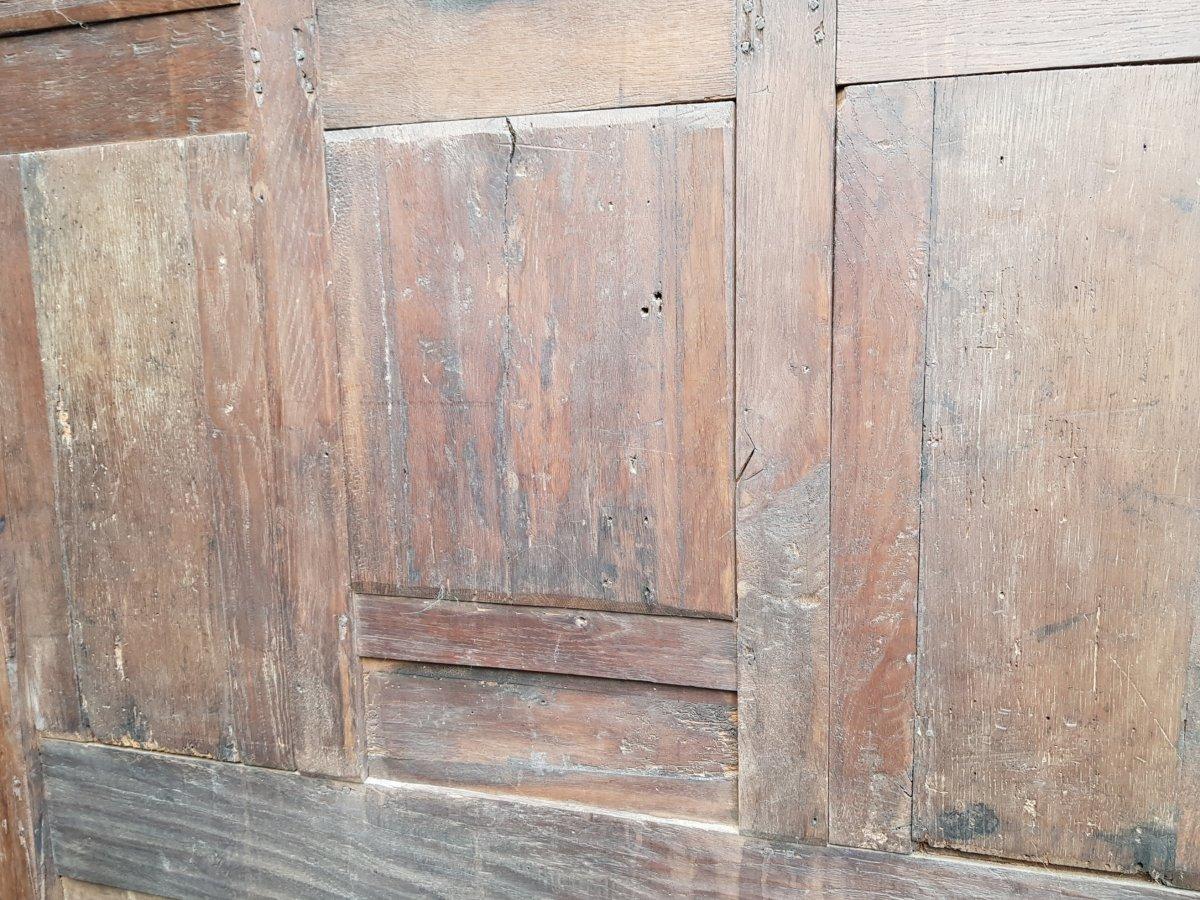 Banc Coffre St. Haute époque Panneaux Saint Paul,pierre Et Catherine d'Alexandrie. -photo-7