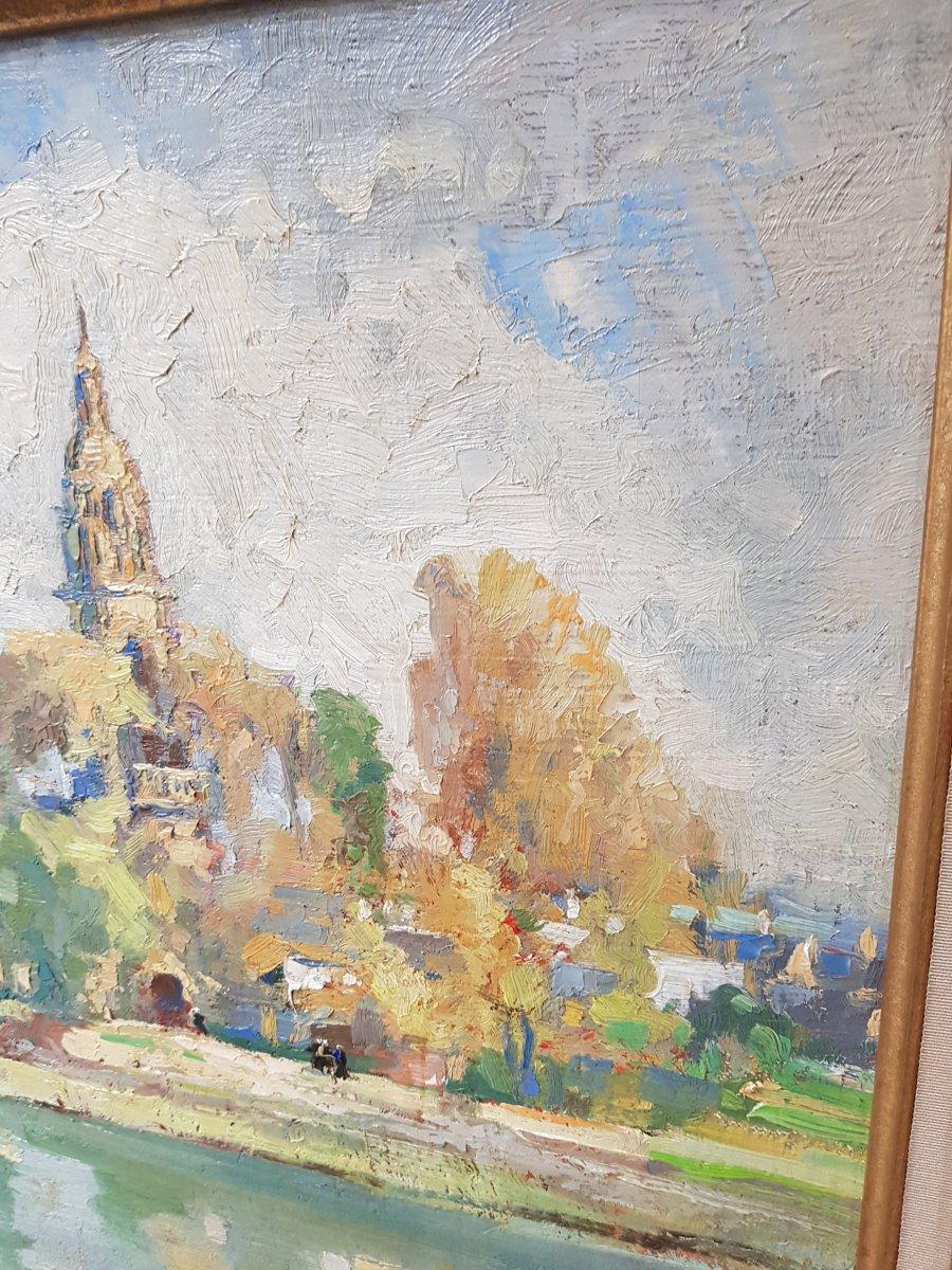 Tableau Émile Nourry (1870-1961) église Saint Sauveur Du Faou Finistère école Bretonne-photo-3