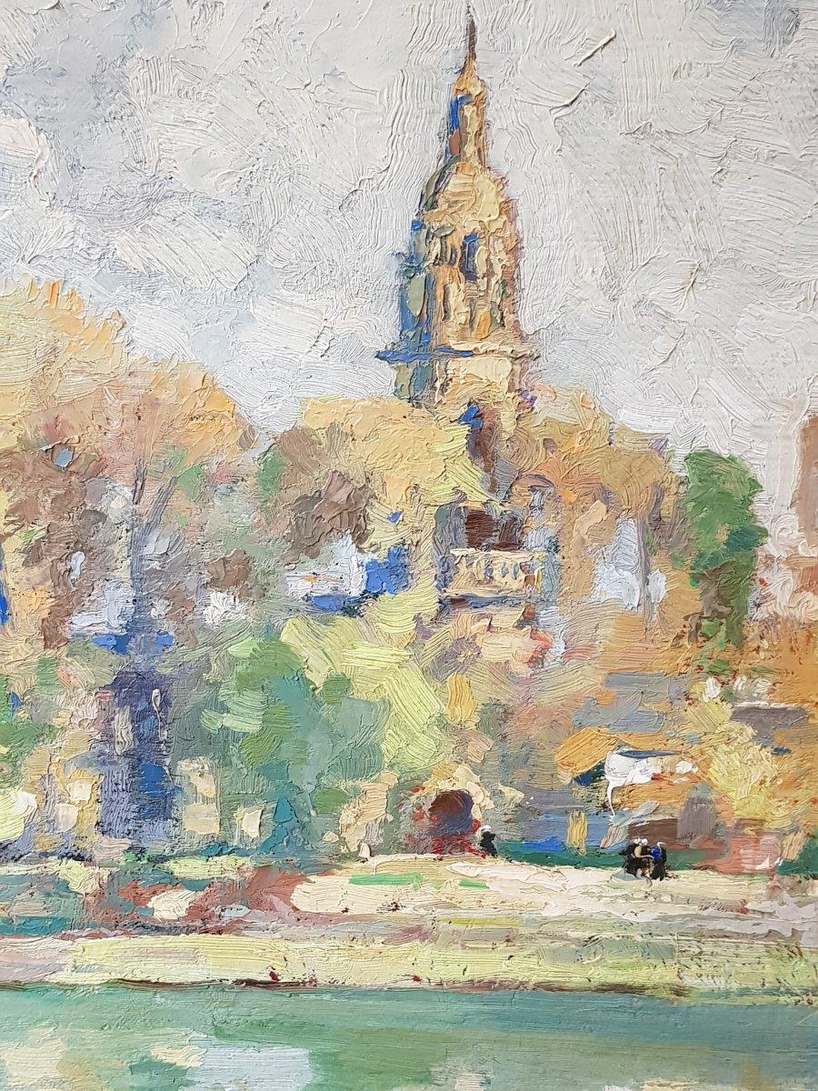 Tableau Émile Nourry (1870-1961) église Saint Sauveur Du Faou Finistère école Bretonne-photo-2