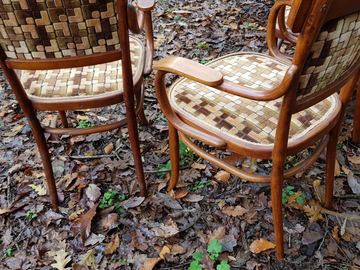 Petit Salon Thonet En Bois Courbé Canapé Fauteuils Et Chaises-photo-4