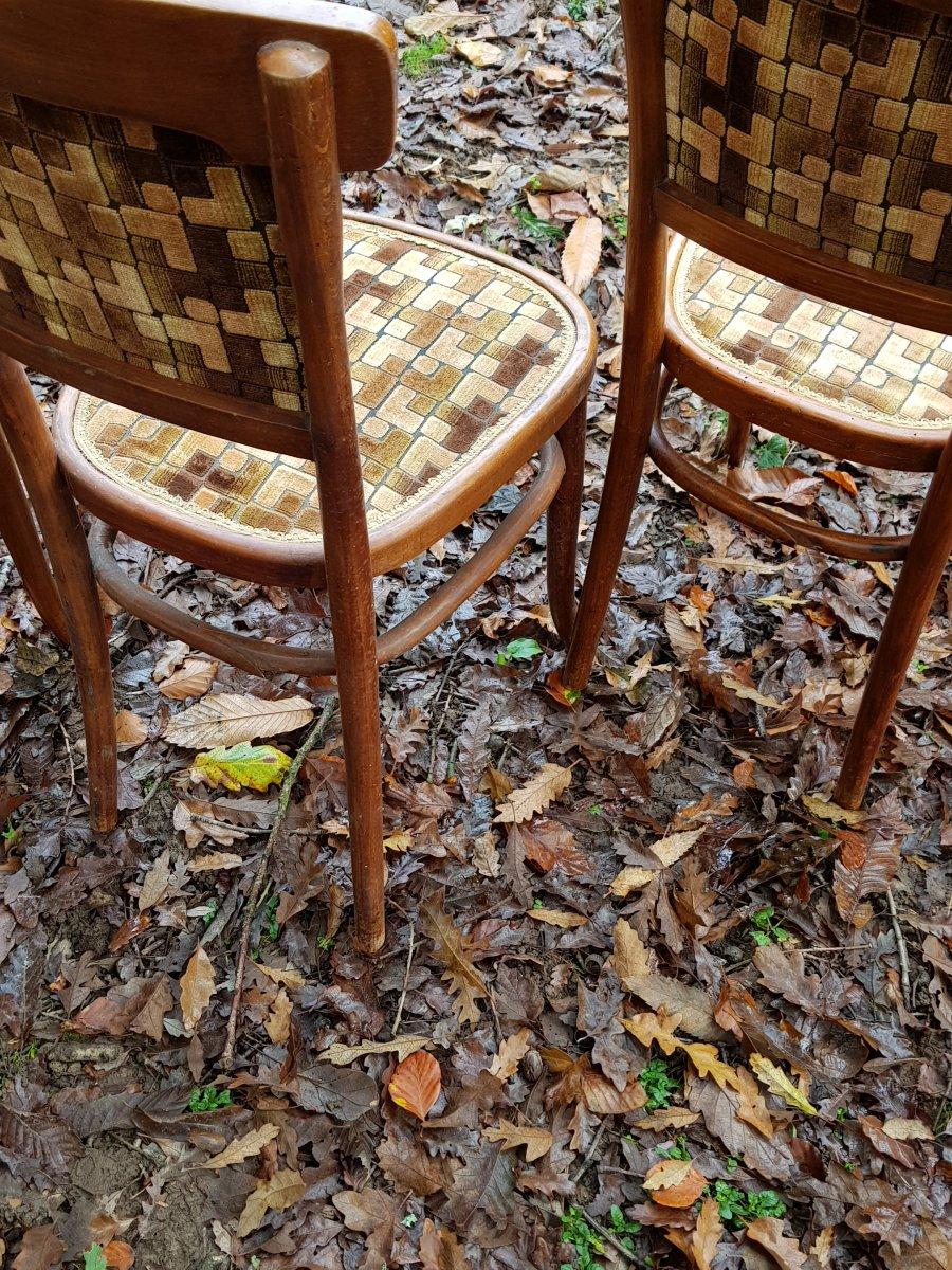 Petit Salon Thonet En Bois Courbé Canapé Fauteuils Et Chaises-photo-6