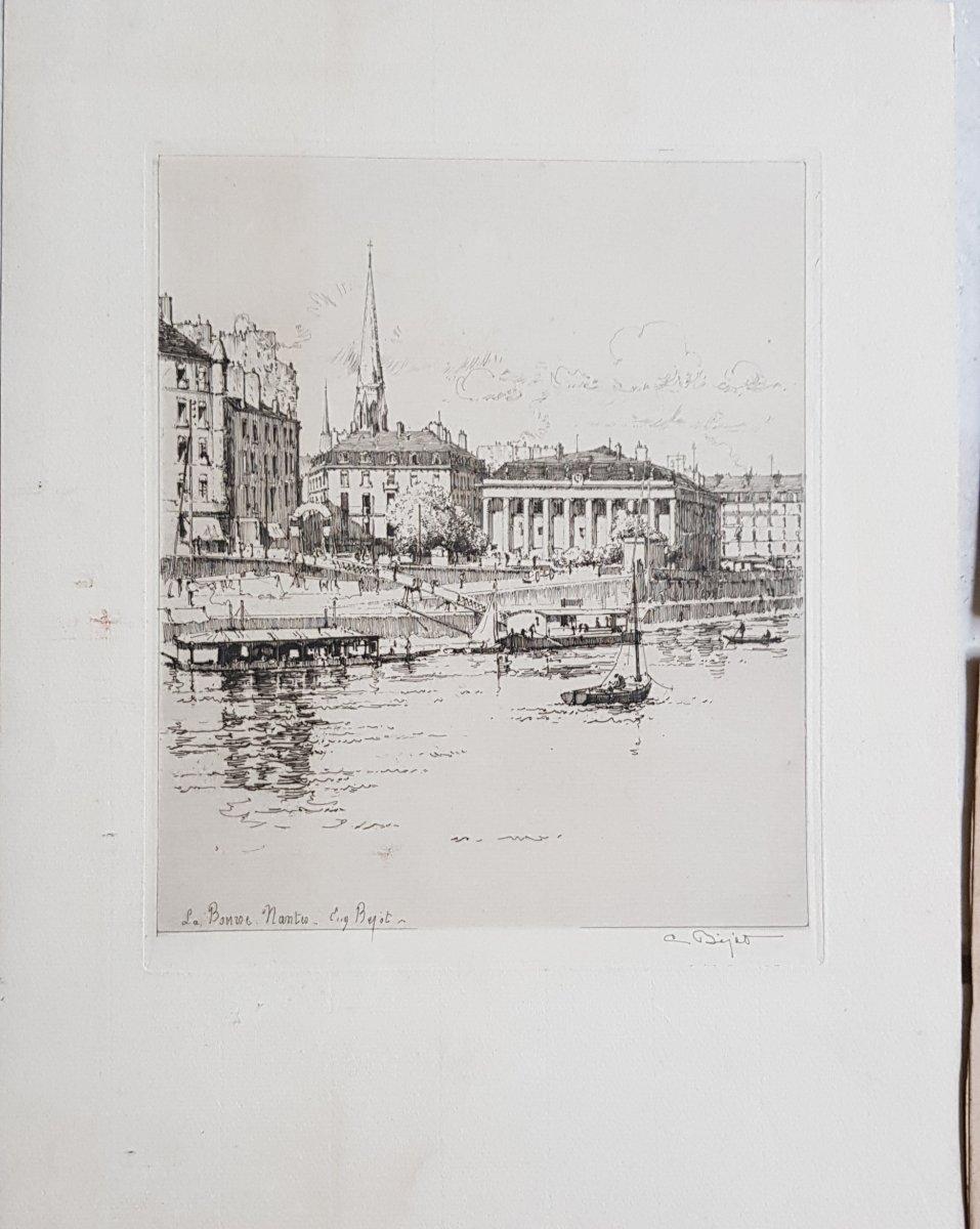 Lot De 19 Gravures Sur Nantes Et Environs Du 18ème Au 20ème Siècle. -photo-4