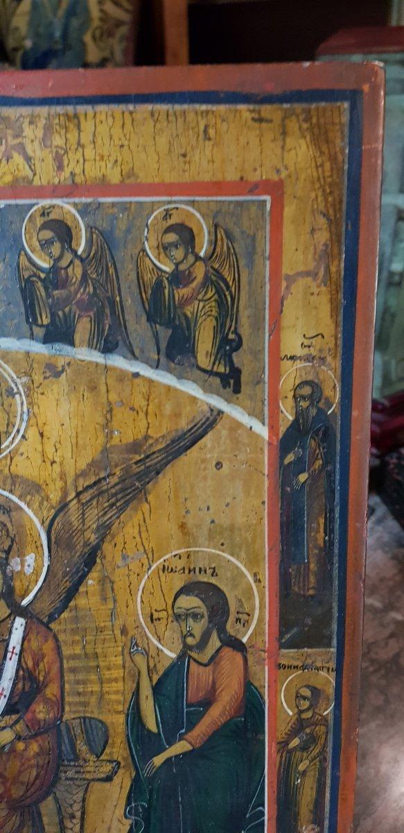 Icône orthodoxe Grecque Sainte Sophie 19ème -photo-1