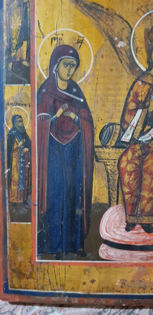 Icône orthodoxe Grecque Sainte Sophie 19ème -photo-3