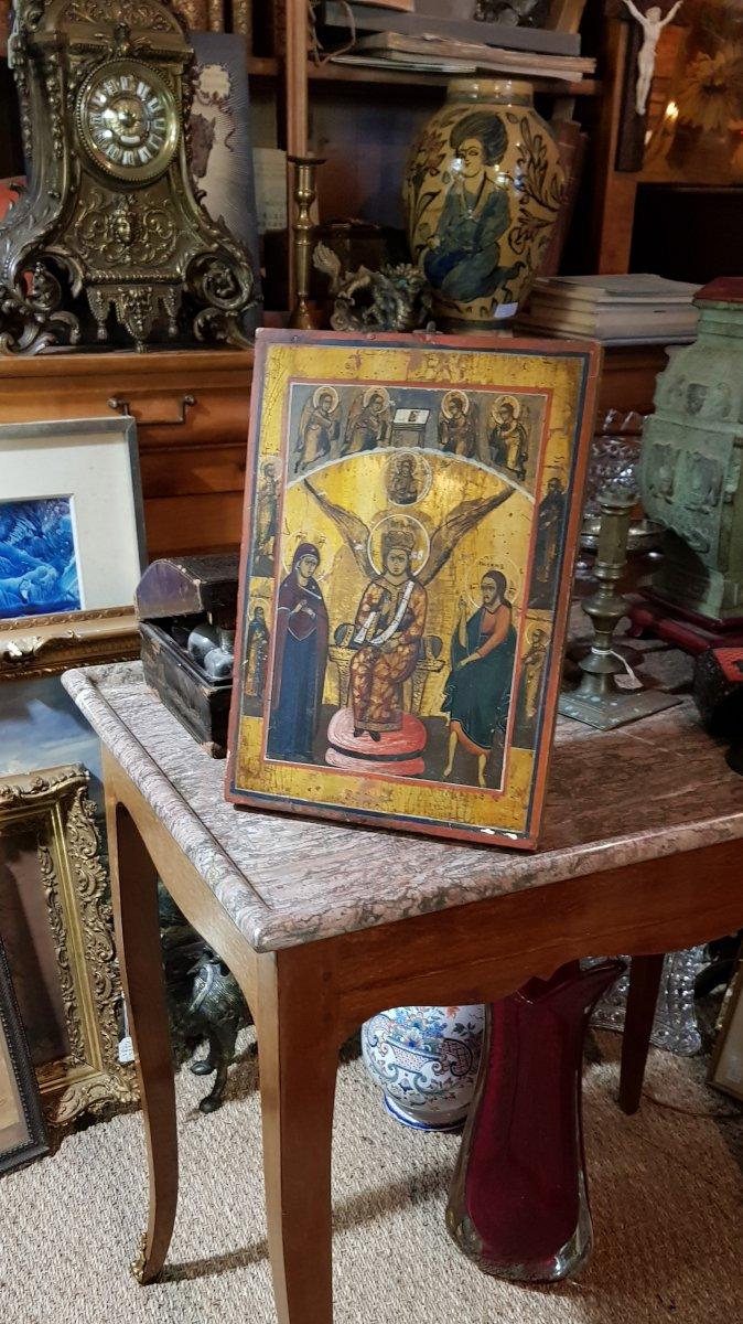 Icône orthodoxe Grecque Sainte Sophie 19ème