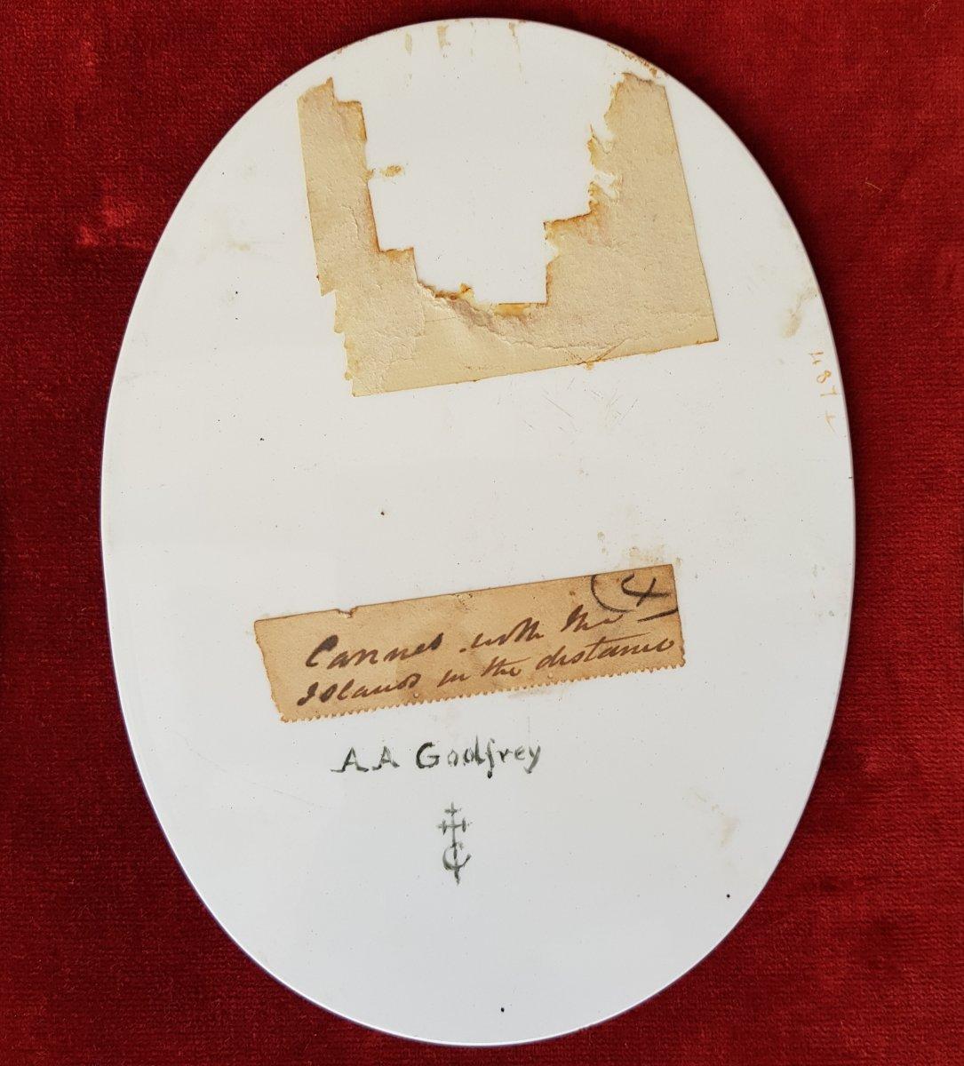 4 Vues De Cannes,antibes,poggio Et San Remo Plaques Ceramique Adélaide Anne Godfrey (1827-1915)-photo-3