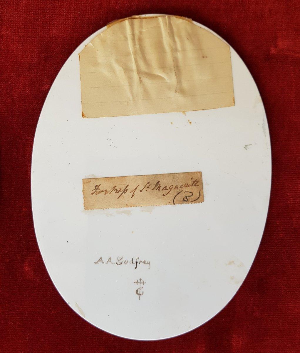 4 Vues De Cannes,antibes,poggio Et San Remo Plaques Ceramique Adélaide Anne Godfrey (1827-1915)-photo-5