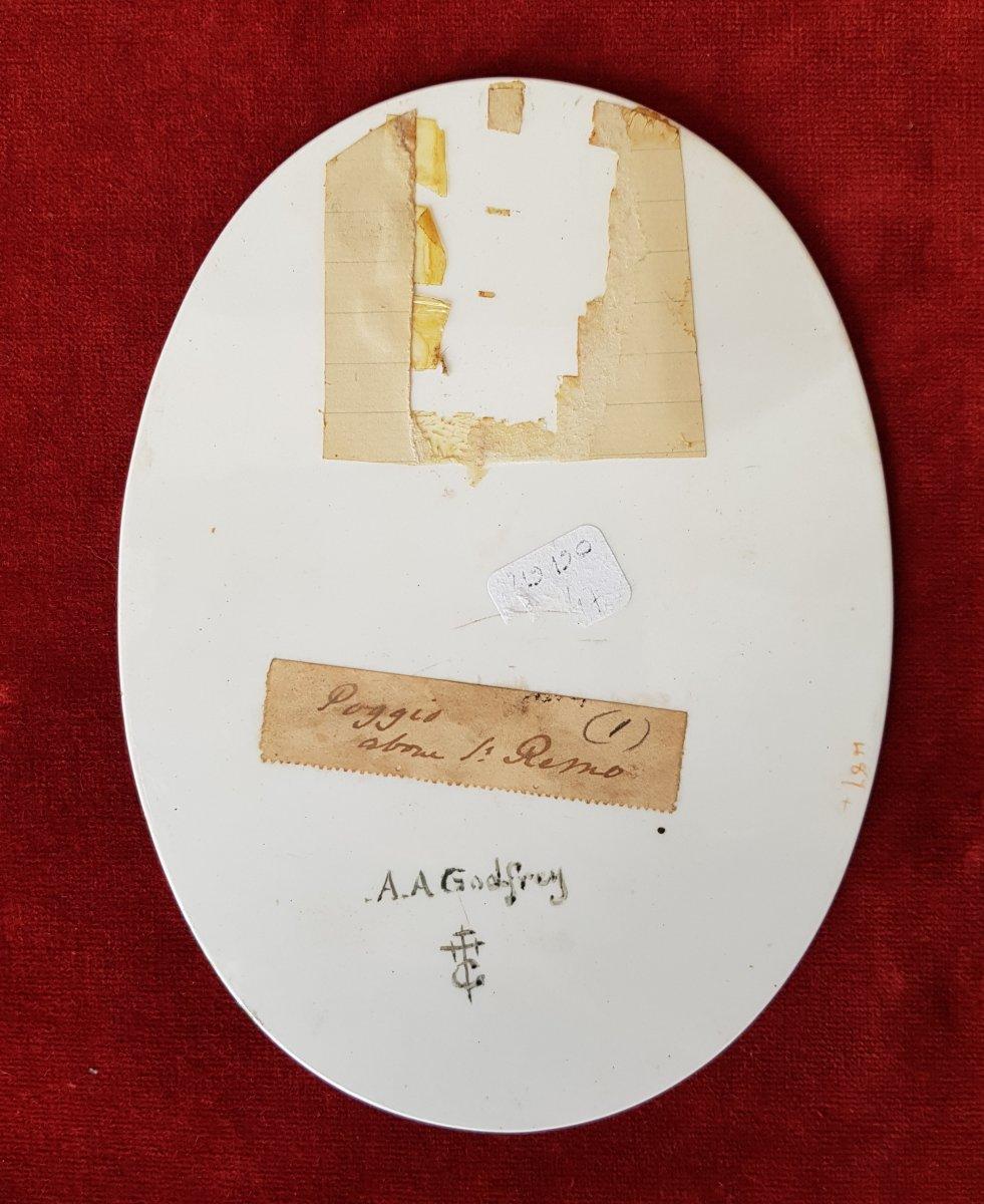 4 Vues De Cannes,antibes,poggio Et San Remo Plaques Ceramique Adélaide Anne Godfrey (1827-1915)-photo-7