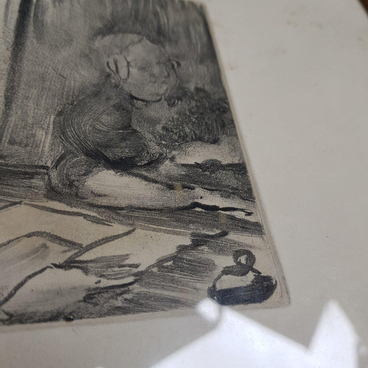 2 Gravures d'Ap. Edgar Degas (1834-1917) Gravé Par Maurice Potin -photo-2