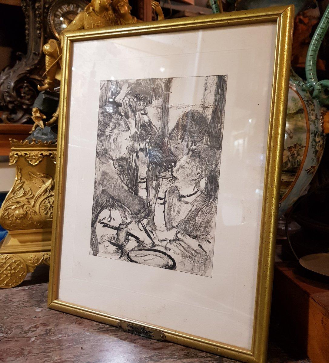 2 Gravures d'Ap. Edgar Degas (1834-1917) Gravé Par Maurice Potin -photo-3