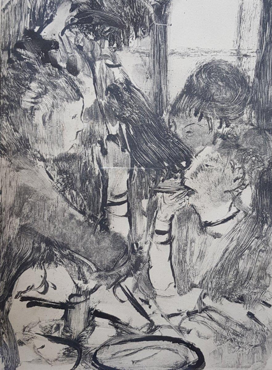2 Gravures d'Ap. Edgar Degas (1834-1917) Gravé Par Maurice Potin -photo-4