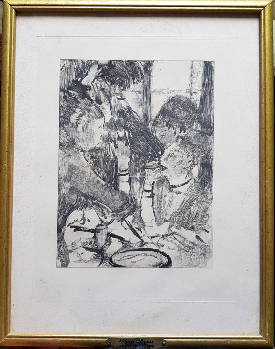2 Gravures d'Ap. Edgar Degas (1834-1917) Gravé Par Maurice Potin -photo-5