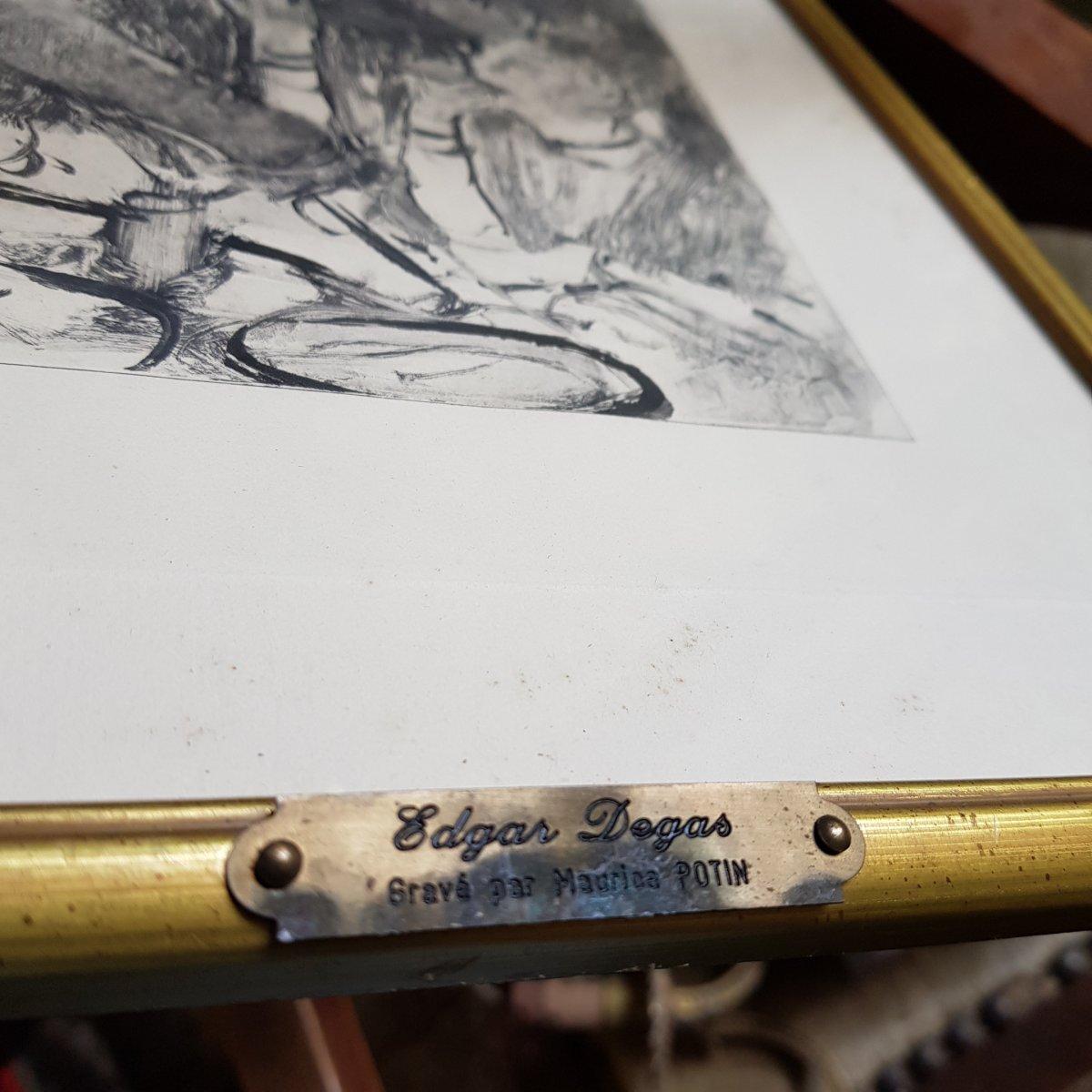 2 Gravures d'Ap. Edgar Degas (1834-1917) Gravé Par Maurice Potin -photo-6