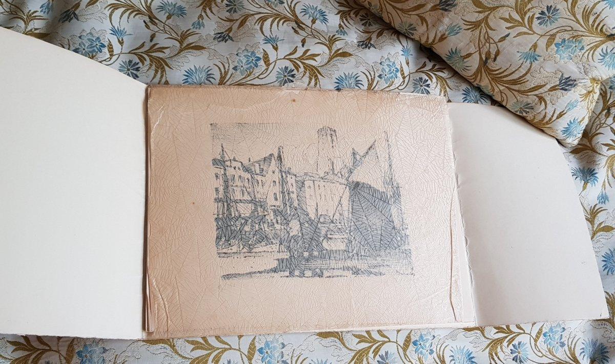 Série De Huit Lithographies De La Rochelle Par Gaston Balande éditions Touzeau-photo-2