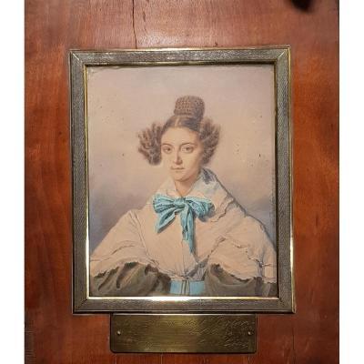 Aquarelle Portrait Johann Friedrich Dietler (1804-1874) Alix Binsse