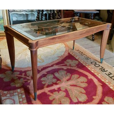 Coffee Table Art Deco 1930 Attr. Maurice Jallot Or Jules Leleu
