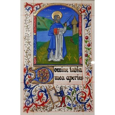 Illumination On Velin Skin By Thierry Mesnig Book Of Hours