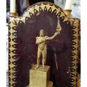 Statuette En Bronze Doré Louis Philippe Adoptant Le Drapeau Tricolore 1830