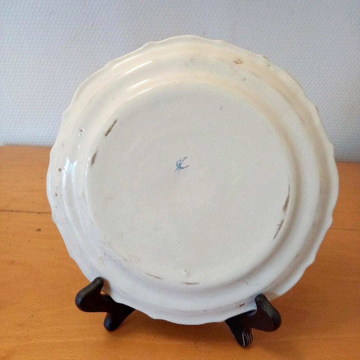 Earthenware Plate: Les Islettes XVIIIth Century.-photo-1