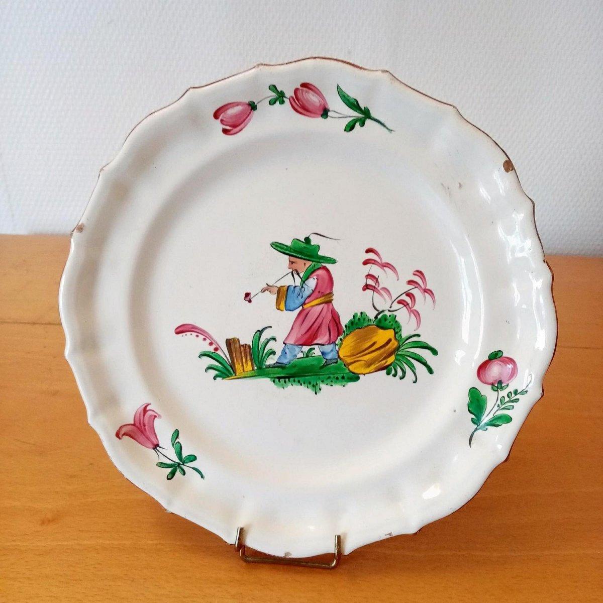 Earthenware Plate: Les Islettes XVIIIth Century.
