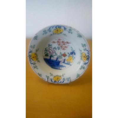 Pair Of Earthenware Plate: Delft XVIIIth Century.